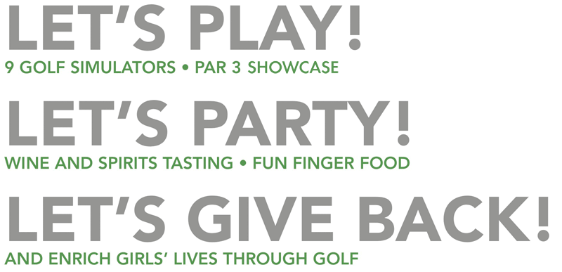 Let's Party! Let's Give Back!